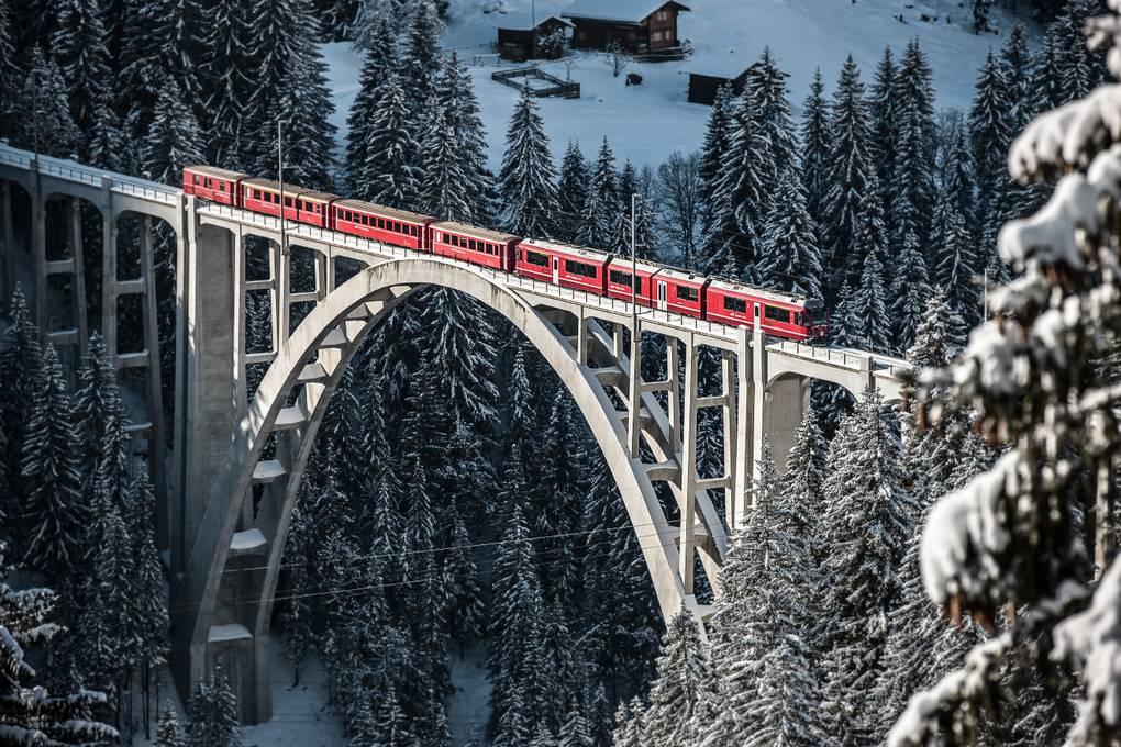 Arosalinie Rhatische Bahn Rhb