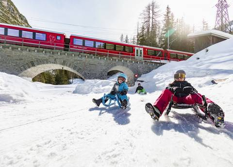 Sledging Preda/Darlux - Bergün - Rhaetian Railway RhB