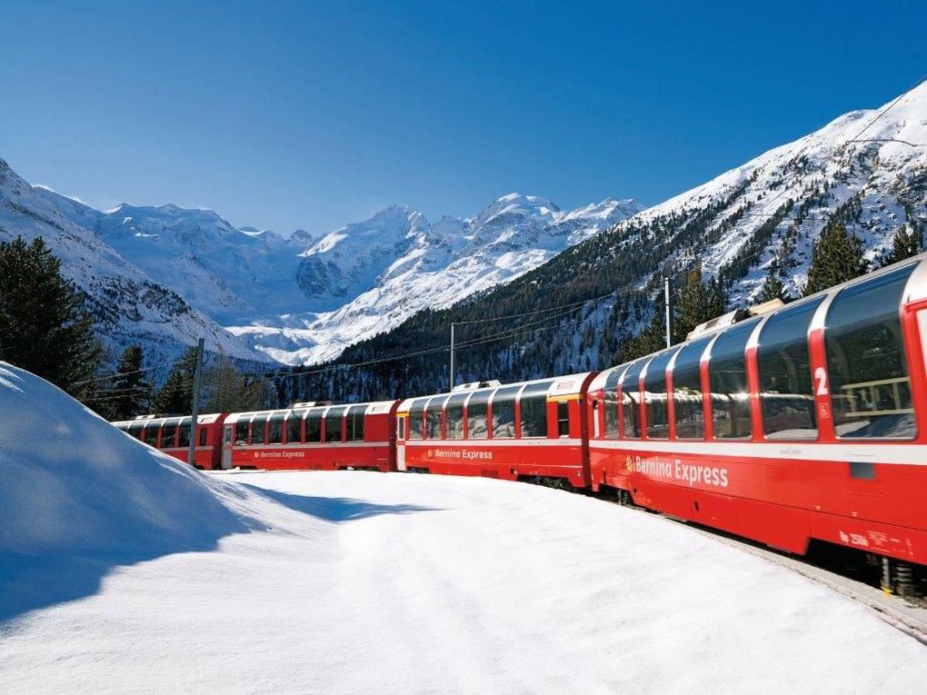 Bernina Express Rhätische Bahn Rhb
